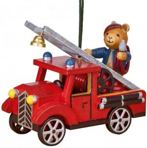 Hubrig Volkskunst - Baumbehang - Feuerwehr mit Teddy