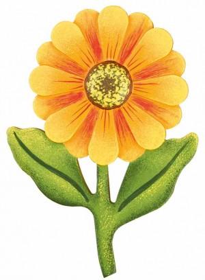 Hubrig Volkskunst - Magnetpin Blume Dahlie