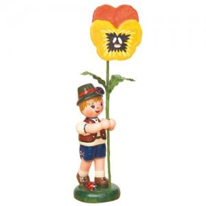 Hubrig - Blumenkinder - Blumenjunge mit Stiefmütterchen 11 cm