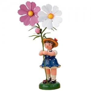 Hubrig - Blumenkinder - Blumenmädchen mit Cosmea 24cm