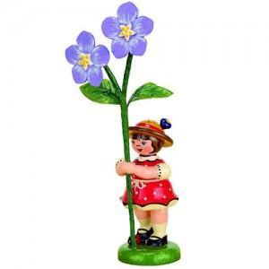 Hubrig - Blumenkinder - Blumenmädchen mit Flachs 7cm