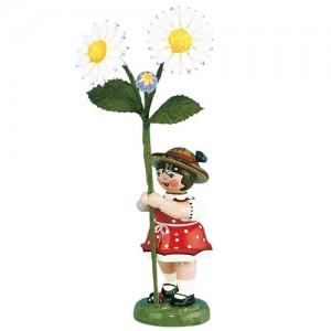 Hubrig - Blumenkinder - Blumenmädchen mit Gänseblume 7cm