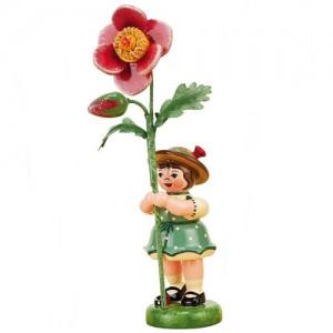 Hubrig - Blumenkinder - Blumenmädchen mit Heckenrose 7cm