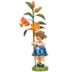 Hubrig - Blumenkinder - Blumenmädchen mit Lilie 17cm