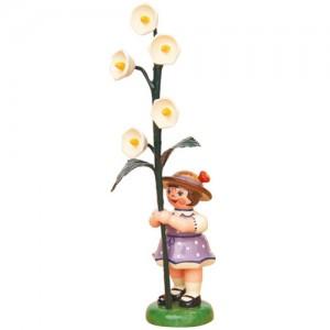 Hubrig - Blumenkinder - Blumenmädchen mit Maiglöckchen 7cm
