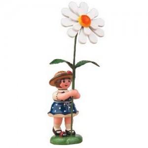 Hubrig - Blumenkinder - Blumenmädchen mit Margerite 7cm