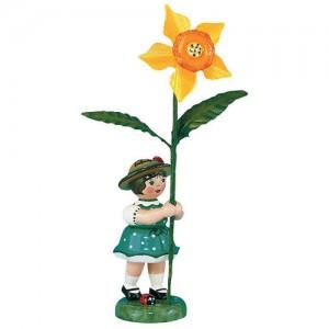 Hubrig - Blumenkinder - Blumenmädchen mit Narzisse 7cm