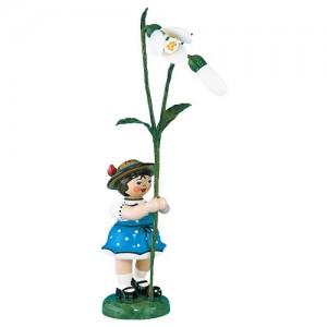 Hubrig - Blumenkinder - Blumenmädchen mit Schneeglöckchen 7cm