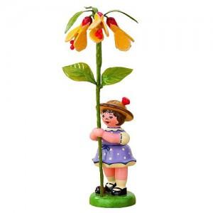 Hubrig - Blumenkinder - Blumenmädchen mit Schönmalve 7cm