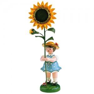Hubrig - Blumenkinder - Blumenmädchen mit Sonnenblume 24cm