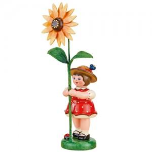 Hubrig - Blumenkinder - Blumenmädchen mit Sonnenhut 11cm