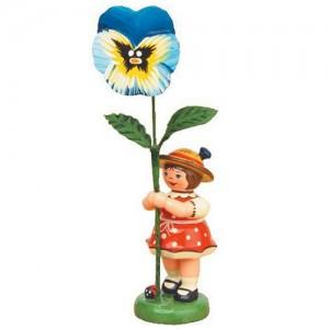 Hubrig - Blumenkinder - Blumenmädchen mit Stiefmütterchen 7cm