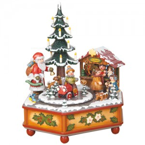 Hubrig Volkskunst - Musikdosen - Spieluhr Weihnachtszeit 22 cm