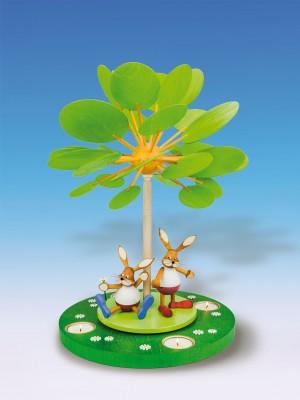 """Knuth Neuber Teelichtpyramide Jahreszeitenbaum """"Frühlingserwachen"""" 42 cm"""