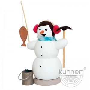 Kuhnert - Schneemann als Eisangler