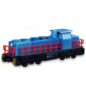 Müller Diesellokomotive, Holzmodell für Räucherkerzen, 25x6x8cm