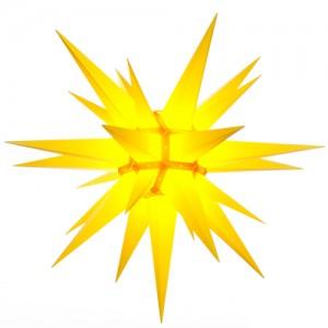 Original Herrnhuter Stern für außen ø ca. 130 cm gelb (A13)