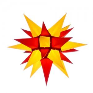 Original Herrnhuter Stern für innen ø ca. 40 cm gelb / rot (I4)