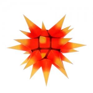 Original Herrnhuter Stern für innen ø ca. 40 cm gelbe Spitzen mit rotem Kern (I4)