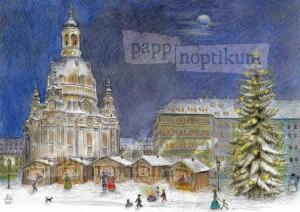 Adventskalender - Dresden Weihnachtsmarkt Frauenkirche